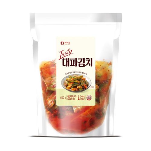 [봄특가] Tasty 대파김치 (500g), 시원하게 톡쏘는맛, 고기와함께 먹으면 더 맛있는 대파 김치