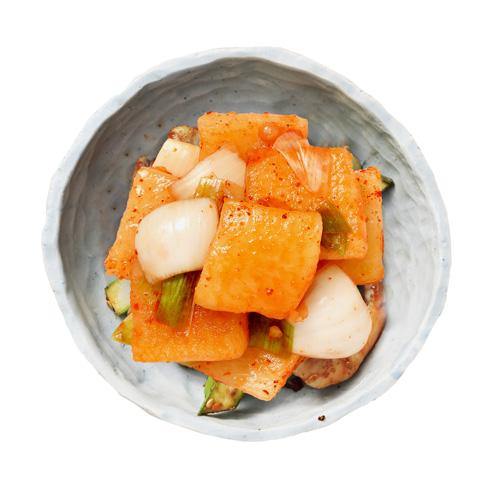 Tasty 별미석박지 (500g), 무석박지에 시원한 양파와  향긋한 대파를 섞어 담근 별미김치